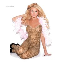 Wholesale Cheap Ladies Socks - Wholesale- Hot sexy women ladies spandex lycra leopard print open crotch full body tights cheap girls night sexy suspender pantyhose