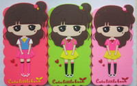 Wholesale Blue Bushes - Cartoon siliicon case Little bush camellia phone case without rope 4.5inch 5inch 5.5inch