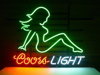 """Wholesale Coors Light Signs New - 17""""x14""""New Coors Light Mud Flap Girl Real Glass Neon Light SIGN STORE BEER"""