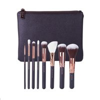 Wholesale Hot Pink Makeup Bag - 2017 HOT NEW Brushes Makeup 15 piece Professional Brushes Kit Foundation Brush Luxury Bag