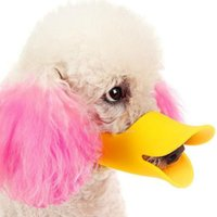 Wholesale mouth muzzles - Dog mouth cover Small Dogs Duck Mouth cover Funny Dog Cover Anti-bite Duck billed Muzzle Mouth For Teddy Dog Silicone Muzzle PD017
