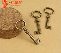 Charms accessories jewelry store - 40 MM Retro silver bronze zinc alloy metal key charms vintage dangle fashion pendant DIY handmade jewelry accessories store