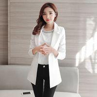 Wholesale Elegant Jacket Blazer - Slim 2017 Women Elegant Long Ladies Blazers Plus Size Female Blazer Jackets Chaqueta Mujer Female Business Suit Casaco 60N0433