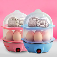Wholesale Utensils For Kitchen - Multi-function Electric Egg Cooker for up to 7 Eggs Double Layer Cooker Boiler Steamer Cooking Tools Kitchen Utensil