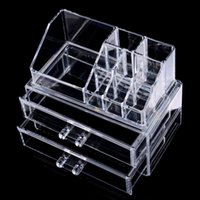 Wholesale Acrylic Makeup Case Organizer - 2017 High Quality Clear Acrylic Cosmetic Jewelry Organizer Makeup Box Case Makeup Box Case SF-1063