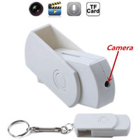 USB Disk Spy Camera con portachiavi U Disk Mini DVR Motion Detection Audio Registratore vocale Supporto USB Flash Drive lettore 64GB 100pcs