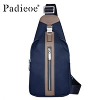 Wholesale Men S Casual Shoulder Bag - Wholesale-Padieoe Fashion Men canvas bags high quality men 's one shoulder bags Casual mens messenger bags Leisure waist pack bag for male