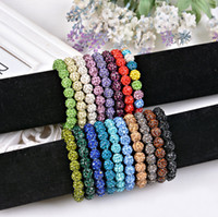 Wholesale Wholesale Macrame Jewelry - Crystal balls shamballa Bracelets Macrame Disco Ball shiny Stretch Bracelets Jewelry Armband Cheap China wrap charm bracelets