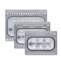 mini led lumières minces achat en gros de-AC 200-265V super mince LED lumières d'inondation Mini lampes de tache extérieures de LED 20W 30W 50W avec IP66 imperméable