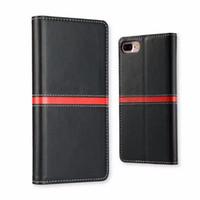 fertigen sie fliptelefonkasten besonders an großhandel-Kundenspezifischer Handy-Fall-Abdeckungs-magnetischer Schlag-Leder-Mappen-Kasten-Beutel-Karten-Halter-Stand für iphone 6S plus