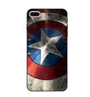 Wholesale Uk Iphone Case - Relief Captain America UK Flag Case For iphone 7 plus 6 s 6s plus 6plus 5 5s se iphone7 3D Cover Phone Painted Cases tpu Soft