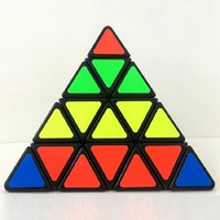 Wholesale Triangle Puzzle Cubes - New Shengshou 4x4x4 Triangle Pyramid Pyraminx Magic Cube Puzzle Speed Magic Cubes PVC&Matte Stickers Cubo Magico Educational Toy Free Ship