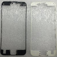 Wholesale Iphone New Bezel - New Front LCD Bezel Frame With Liquid Hot Glue Replacement Repair Part For iphone 6s plus 4.7 5.5 inch white black