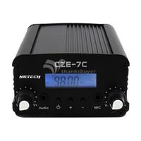 Wholesale Radio 7w - Wholesale-CZE7C 1W 7W FM Transmitter Stereo LCD Broadcast Radio Station Home Wireless Audio System