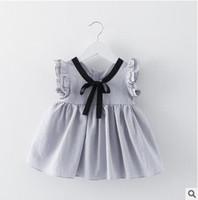 mini vestidos japoneses al por mayor-Venta caliente de la muchacha del estilo japonés vestido de cinta corbata mini vestido de los niños falda de los niños de alta calidad vestido de la manga de la mariposa 4 color