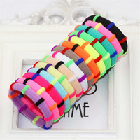 Wholesale Packing For Hair Bands - Wholesale- 2016 Candy Color 12Pcs Pack Elastic Headband Stretchy Hair Rope Rubber Bands For Baby Colors