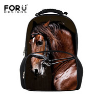 Wholesale 3d Bagpack - Wholesale- FORUDESIGNS 3D Animal Printing Backpacks for Men Crazy Horse Dinosaur Leopard Backpacks for Teenager Boys Man Traveling Bagpack