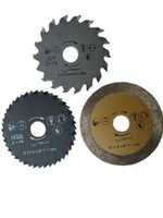 Wholesale 3pcs set rotorazer saw blade Accessories for rotorazer circular saw TCT wood cutting disk HSS metal cutting disk tile cutting disk