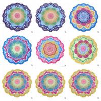 Wholesale Tablecloths Tassels - Indian Mandala Beach Towel Tassel Printed Tapestry Hippy Boho Tablecloth Bohemian Serviette Covers Beach Shawl Wrap Yoga Mat CCA5652 5pcs