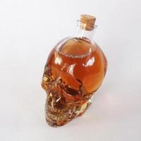 Wholesale Crystal Skull Carving - Skull Drinking Glasses Vodka Whiskey Shot Creative Style Drinking Bottles Home Bar Glasses Drink Cocktail Beer Crystal Cups CCA6401 100pcs