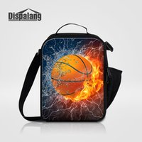 Wholesale Personalized Basketball Printed Lunch Bags For Men Thermal Lunch Cooler Bag Soccer Boys Food Storage Picnic Lunchbox Bolsa Termica Lancheira
