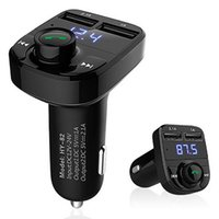 Headset Radio Mp3 Spieler Kaufen -FM Transmitter Wireless Bluetooth Transmitter Auto Radio Adapter Dual USB Ladegerät Bluetooth Headset Unterstützung TF Karte MP3 Player