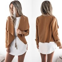 Wholesale Thin Cardigan Outfits - Women's Autumn Winter Plain Lapel Long Sleeve Cardigan Woolen Sweater Loose outfit clothing Vestidos Size: S M L XL DY17703