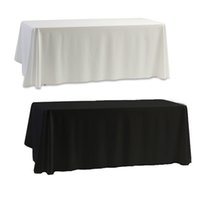 Wholesale Cloth Table Covers For Parties - Hot christmas tablecloth Nappe Table Cover table cloth White & Black for Banquet Wedding Party Decor 145x145cm