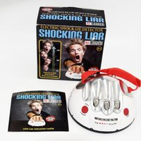 Wholesale Shock Test - Polygraph Funny Adjustable Adult Polygraph Test Electric Shock Lie Detector Shocking Liar truth or Dare Game consoles