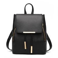 Wholesale Top String Girls - New Fashion Women Backpack High Quality PU Leather Mochila Escolar School Bags For Teenagers Girls Top-handle Backpacks Travel Bags SYB21
