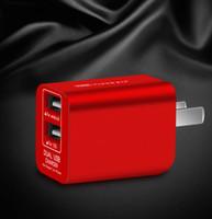 adaptateur de voyage de mûre achat en gros de-Charge rapide 3.0 téléphone portable double adaptateur de chargeur mural USB de voyage pliable US Plug pour Xiaomi Samsung iPhone pour iPad