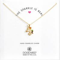 Wholesale Wholesale Sparkle Jewelry - New Dogeared Choker Necklaces With Card Colorful Unicorn Pendant Necklace For Fashion Women Jewelry THE SPARKLE IS REAL