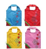 Wholesale Strawberry Reusable Tote Shoulder - Strawberry Folding Shopping Bag eco Tote Reusable Women Shopping Shoulder Bags Recycle Foldable Cat Pig Bag 12KG Bearing