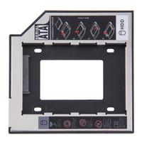 ingrosso vendita delle baia-Vendita all'ingrosso- VENDITA CALDA! 2.5,5,5 mm Ssd Hd SATA Hard Disk Drive HDD Caddy Adapter Bay per Cd Dvd Rom Bay ottica Hot Nuovo
