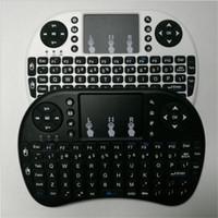 Deutsch Version Mini Rii i8 Kabellose Tastatur Fernbedienung Touchpad Tastatur Touchpad Maus Hintergrundbeleuchtung Combo für TV Box Tablet Mini PC