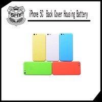 Wholesale Iphone 5c Metal Housing - 5 color Brand New Chassis Middle Frame Housing Back Battery Cover Middle Frame Metal Back Housing For iPhone 5C Free shipping