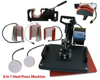 8 en 1 Heat Press Machine T-shirt numérique Tasse Hat Plate Cap Transfer Sublimation