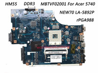 Wholesale acer laptops quality - Superior Quality Motherboard For Acer 5740 Motherboard MBTVF02001 NEW70 LA-5892P rPGA988 HM55 DDR3 100% Fully Tested