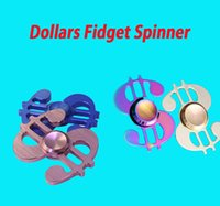 Dollari USA Simbol Hand Spinner 4colors Triangolo Fingertips Spiral Dita Gyro Torqbar Fidget Spinner Decompression Toys L017