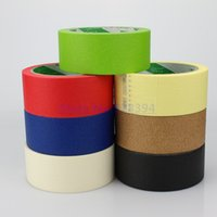 Wholesale Draw Car Paint - Wholesale- 2016 1Roll 4cmx25M Crepe Paper Masking Tape Good For Car Painting Wall Painting Drawing Decoration Painting Choose Color