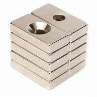 Wholesale Magnet Motor Generator - New 20pcs 20 x 10 x 4mm Hole 4mm Super Strong Block Rare Earth Neodymium Magnets N50 NdFeB Apply to Generators Motors etc