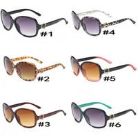 grandes lunettes de soleil pour femmes achat en gros de-Lunettes de soleil tendance pour femmes 8016 Grand cadre rond Lunettes de soleil NICE FACE Lunettes de soleil rétro 6 couleurs Qualité