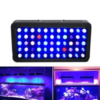 Aquarium De Récif Conduit Pas Cher-Nouvelle arrivée 165W 300W conduit aquarium léger 55 * 3W / 60 * 5W Leds lampe Coral Reef Grow Light haute puissance Fish Tank LED Aquarium Light