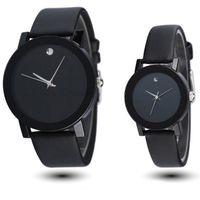 Wholesale Womens Classic Watch - Wholesale- Sinobi New Fashion Black White Mens Womens Leather Quartz Analog Wrist Watch Boy Girl's Student Elegant classic casual watches