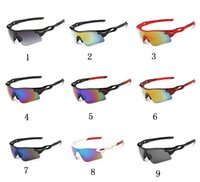 Sports sports vision eyewear - 19 colors Cycling night vision glasses Designer Outdoor Men Woman Sport Bicycle Sunglasses TR90 Goggles Eyewear Gafas Ciclismo