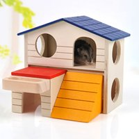 toy cabin prices - Pets Articles Hamster Cabin   Hamster Villa Nest Double-deck House Gold Wire The Bear Small Pet Residence House 8 sets