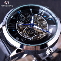 Wholesale Winner Time - Forsining 2017 Time Space Fashion Series Skeleton Mens Watches Top Brand Luxury Clock Automatic Male Wrist Watch Automatic Watch