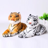 Wholesale Tiger Animal Plush - Wholesale- AUTOPS 25cm Cute Plush Tiger Animal Toys Child Gift Lovely Stuffed Doll Animal Pillow Children Kids Birthday Gift