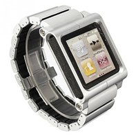 nano saatler toptan satış-Toptan-Dayanıklı Yenilik Multi-Touch Bilek Kayışı Watch Band iPod Nano 6th nesil Bilezik Saat Kordonu