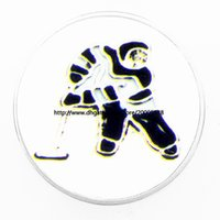 Wholesale Ice Hockey Jewelry - fashion Ice hockey movement 18 mm glass print ginger snap button jewelry luxurious alloy bottom fit 18 mm snaps bracelets best gifts